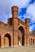 Rossgarten Gate - fortified strengthening of Koenigsberg. Kaliningrad (until 1946 Koenigsberg), Russia — ストック写真