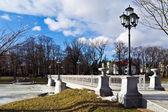 красивый белый мост — Стоковое фото