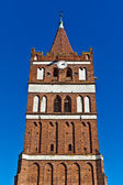 The Church of St. George (Kirche Friedland) - Gothic temple of the 14th century. City Pravdinsk (until 1946 Friedland), Kaliningrad oblast, Russia — Stock Photo