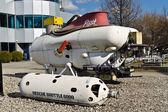 "Soviet submarine apparatus ""Shuttle-6000"" and ""Pisces-VII"" — Stock Photo"