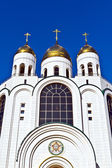 Cathedral of Christ the Savior - the main Orthodox temple of Kaliningrad (until 1946 Koenigsberg), Russia — Stock Photo