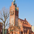 Church of the Holy family, neo-Gothic 20th century. Kaliningrad (until 1946 Koenigsberg), Russia — Stock Photo