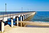 Promenade goes into the sea... — Stock Photo