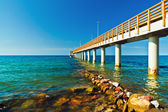 Promenade goes into the sea — 图库照片