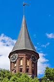 Kathedrale von Königsberg, Hauptturm. Gotisch, 14. Jahrhundert — Stockfoto