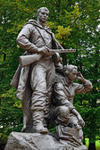 Memorial to Warrior scout. Victory Park, Kaliningrad, Russia — Stock Photo