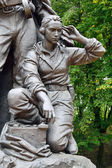 Memorial to Warrior - scout (fragment). Victory Park, Kaliningrad, Russia — Stock Photo