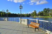 Summer evening on the Verhnee lake (German: Oberteich ). Kaliningrad, Russia — Stock Photo