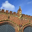 Friedland gate - neo-gothic fortress 19th century. Kaliningrad (Koenigsberg before 1946), Russia — Stock Photo