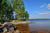Lake Engozero. North Karelia, Russia — Stock Photo