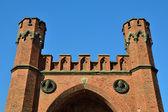 Rossgarten Gate of Koenigsberg. Kaliningrad (until 1946 Koenigsberg), Russia — Stock Photo