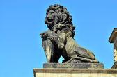 Koenigsberg の石造りのライオン — ストック写真