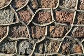 Olden stone wall — Stock Photo