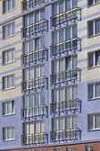 New building with a French balcony — Stockfoto