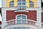 White balconies — Stock Photo