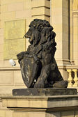 Stone lion of Koenigsberg — Stock Photo