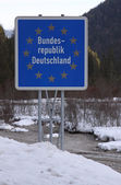 Border of Germany — Stock Photo