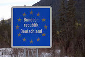 Border sign — Stock Photo