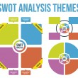 SWOT Analysis Themes Vector — Stock Vector