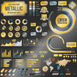 Metallic infographic elements — Stock Vector