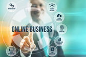 Online business concept — Stock Photo