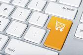 Keyboard shopping cart — Stock Photo