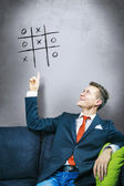 Business solution tic-tac-toe — Stockfoto