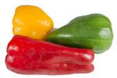 Paprika's geïsoleerd op wit — Stockfoto
