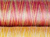Colored Fibre Texture. Spools. Macro Photography. — Stock Photo