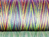 Colored Fibre Texture. Spools. Macro Photography. — Stock Photo