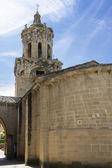 Igreja do crucifixo. puente la reina, navarra. espanha. — Fotografia Stock