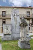 Pilgrim Statue. Santo Domingo de la Calzada, La Rioja. Spain. — Stock Photo