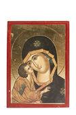 Icono de la Virgen María con niño Jesús — Foto de Stock