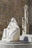 Monument voor santa teresa de jesus — Stockfoto