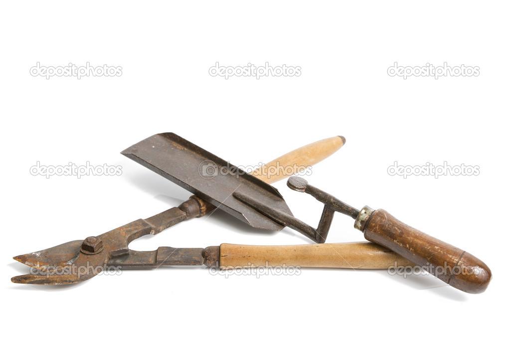 Antiguas herramientas de jardiner a foto de stock 49480987 for Paginas de jardineria