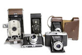 Old Photographic Cameras — Stock Photo