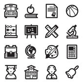 Education Icons Set 1 - Simpla Series — Stock Vector