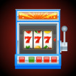 Stock Vector: Blue slot machine