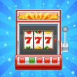 Stock Vector: Red slot machine