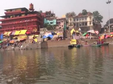 Assi Ghat is situated at the confluence of ganga and asi rivers, in Varanasi, India. Thousands of hindu pilgrims take holy dip here on important occasions.