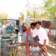 Stock Photo: Indirickshaw pullers