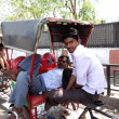 Rickshaw puller — Stock Photo