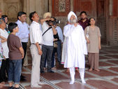 Nirankari Baba Hardev Singh Ji Maharaj (in White dress) — Stockfoto