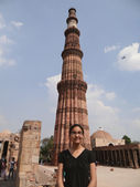 Posing at Qutub Minar — Stock Photo