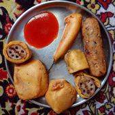 Indian snacks — Stock Photo