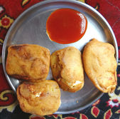 Cheese Pakoda, Paneer Pakoda, Indian, snacks — Stock Photo