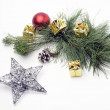 Still life with Christmas decorative items — Stock Photo