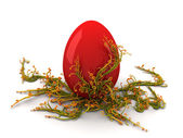 Red Egg Twirls — Stock Photo