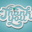 Thank You signature — Imagen vectorial