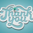 Thank You signature - Stock Vector